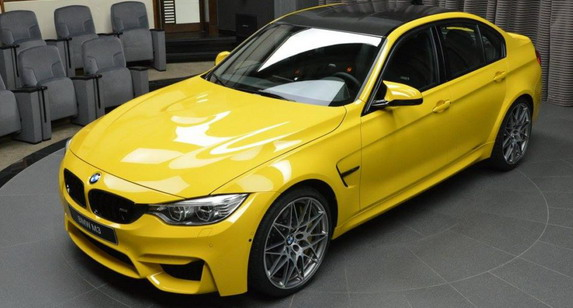 BMW-M3-Competition-Speed-Yellow