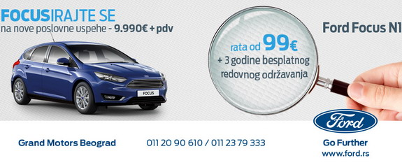 Grand motors akcija za ford focus i kugu Grand motors used cars