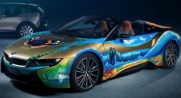BMW i8 Roadster Art Car