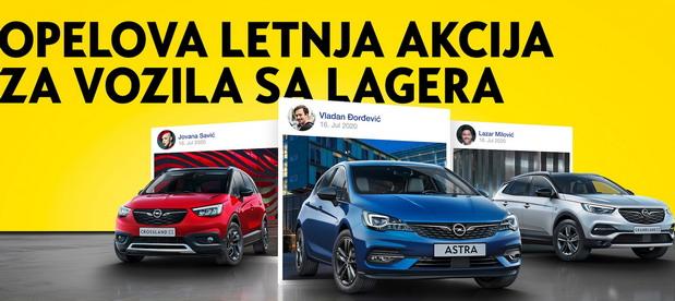 Opelova letnja akcija za vozila sa lagera