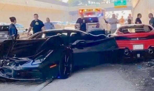 Ferrari sudar