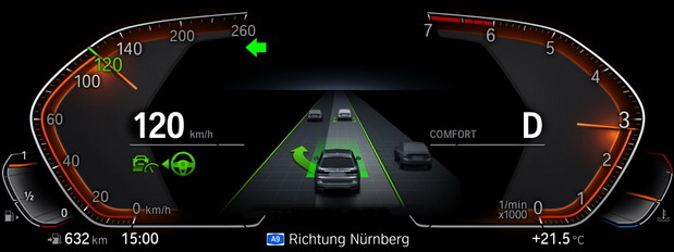 BMW Driving Assistant View