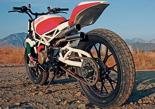 Ducati desmosedici V4 custom street tracker