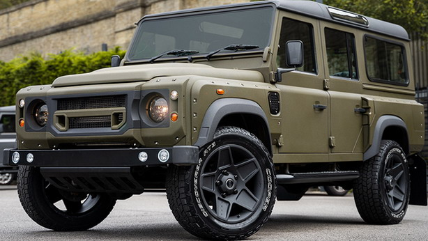 Forrest Green Land Rover Defender 110