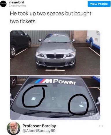 Platio dva parking mesta za svoj BMW