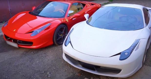 Ferrari 458 i njegova kopija