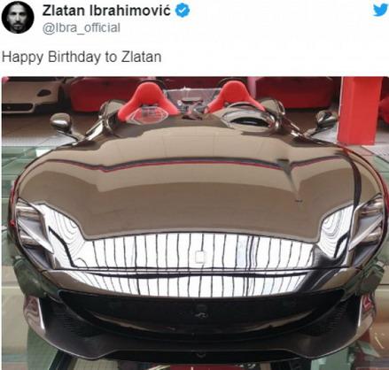 Ibrahimović Ferrari Monza SP2