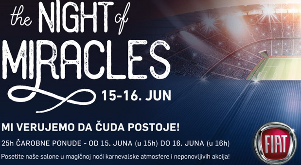 FCA Srbija The Night of Miracles