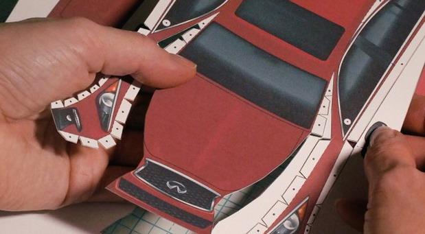 Infiniti automobil od papira