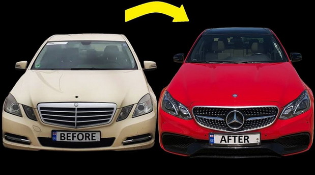 Transformacija Mercedesa E Taxi u E 63 AMG