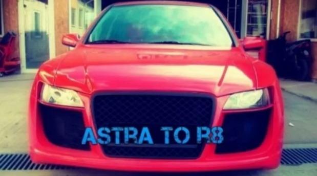 Opel Astra G kao Audi R8