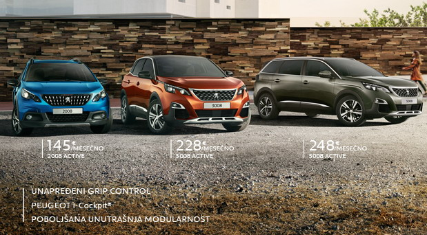 Ponuda za Peugeot SUV gamu