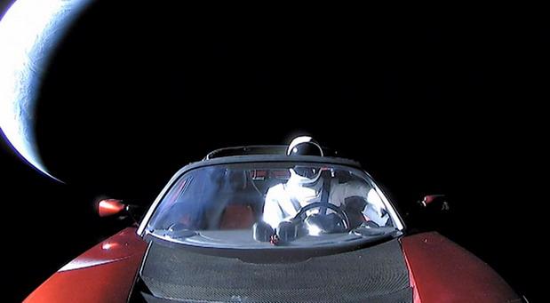 SpaceX Starman i Tesla Roadster