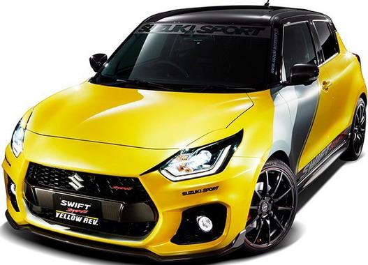 Suzuki Swift Sport Yellow Rev