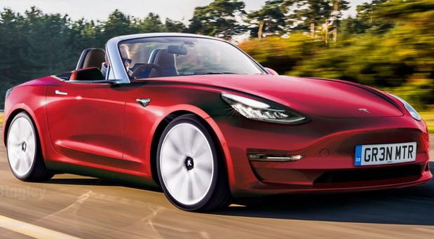 Tesla Model 3 kabriolet