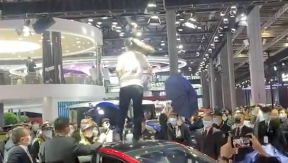 Tesla protest