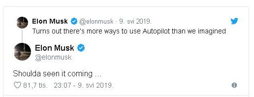 Elon Musk tvit