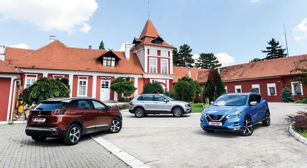 Peugeot 3008 vs Nissan Qashqai vs VW Tiguan
